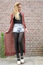 vintage shorts - H&M vest - Forever21 heels