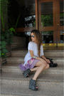 White-h-m-t-shirt-black-zara-shoes-stradivarius-dress-silver-ray-bany-glas