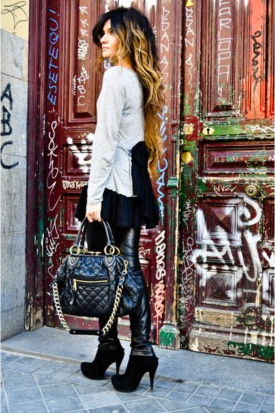 stam Marc Jacob bag - Pura Lopez shoes - leather Berskha pants - Manoush top