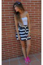pink go jane shoes - navy Primark skirt - floral Sfera accessories
