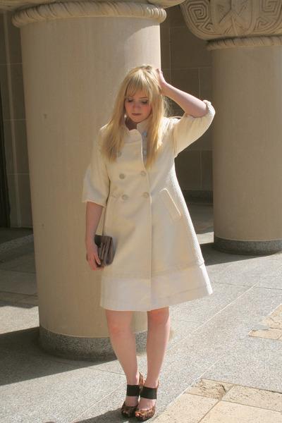 cream BCBG coat