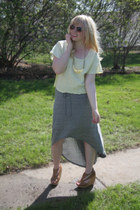 hi-low StyleMint skirt - pastel yellow Forever 21 top
