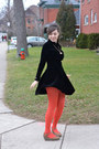 Black-vintage-dress-red-tights-brown-fly-london-wedges-white-necklace