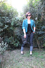 Blue-vinnies-jacket-black-now-k-mart-top-blue-k-mart-jeans-black-aldo-shoe