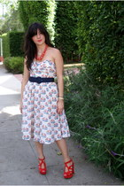 Anthropologie dress - Zara heels
