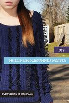 DIY Phillip Lim Porcupine Sweater