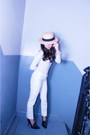 H-m-hat-michael-stars-top-white-slacks-zara-pants