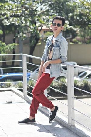 ivory Tee Culture t-shirt - blue Topman shirt - brick red Markus pants
