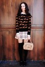 Dark-brown-payless-shoes-black-h-m-sweater-tan-bag-black-forever-21-socks