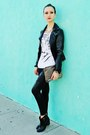 Black-boots-black-jacket-black-leggings-gold-bag-white-top