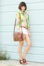 Shirt-bag-shorts-wedges