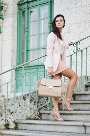 light pink hm blazer - neutral Forever 21 heels
