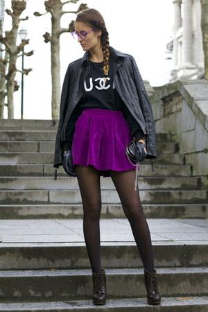 Choies skirt - Udobuy sweater - Wholesale Celebshades glasses