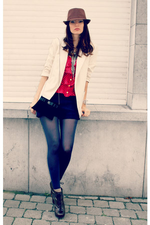 new look blazer - H&amp;M tights