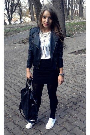 black George jacket - black pieces bag - black Amisu skirt
