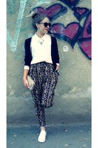 gray Takko necklace - black H&M blazer - light pink Piazza Italia purse