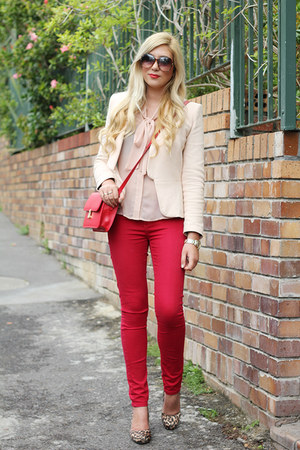 red Woolworths jeans