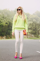 chartreuse neon GoodNight Macaroon jumper