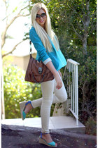 aquamarine Bershka blazer