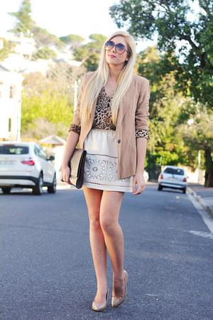 camel Zara blazer