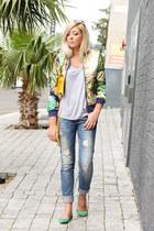 navy boyfriend Zara jeans