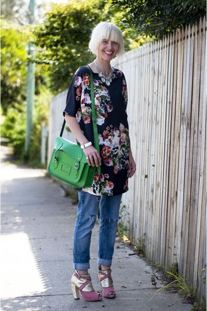 cambridge satchel bag - Topshop Gothic Floral Shift dress
