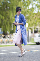 vintage coat - mirrored Kmart sunglasses - Saint James top