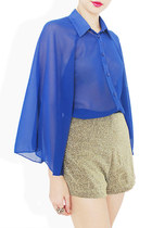 blue sheer shirt StyleSofia shirt