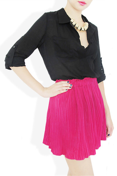hot pink StyleSofia skirt