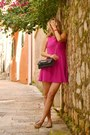 Hot-pink-h-m-dress-tan-leopard-print-aldo-loafers-hot-pink-cruciani-bracelet