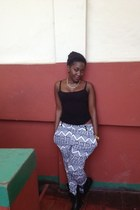 black Primark pants