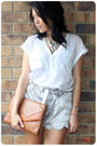 Silver-from-vietnam-shorts-white-wish-shirt-brown-vintage-bag-silver-forev