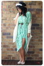 Green-vintage-dress-white-modcloth-sweater-white-sportsgirl-shoes-white-di