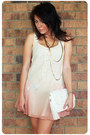 Cream-modcloth-sweater-peach-sportsgirl-dress-white-sportsgirl-shoes-white