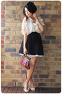 Light-pink-diycotton-on-shirt-black-h-m-skirt-nude-by-appointment-shoes-cr