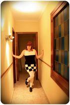 black Madcap dress - white Topshop tights - black wonders shoes