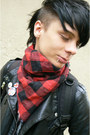 Black-invader-boots-black-roni-sweater-ruby-red-h-m-scarf