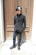 black Deichmann shoes - black Denim Co jeans - black Gap blazer