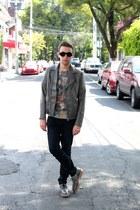 silver H&M jacket - heather gray Dieppa Restreppo shoes