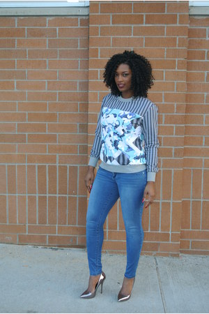 Peter Pilotto For Target sweater - 7 for all mankind jeans - Steve Madden pumps