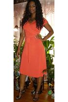 orange banana republic dress - brown Bumper shoes