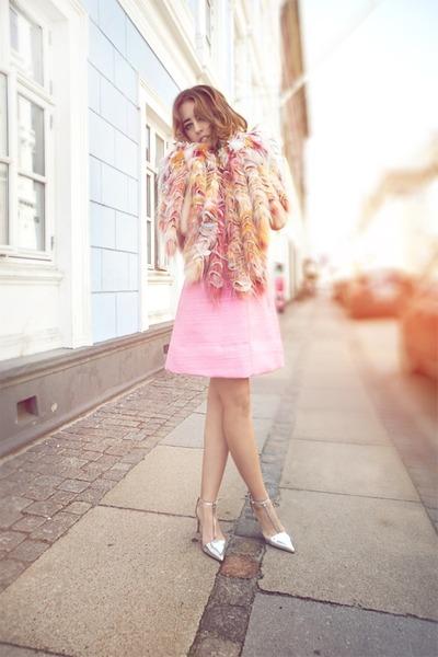 Kopenhagen fur coat - Maria grazia severi dress