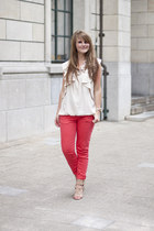 River Island top - River Island sandals - Zara pants - River Island necklace