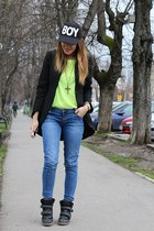 Zara jeans - Zara blazer - Guess bag
