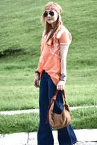 Zara shirt - vintage jeans - Forever 21 bag