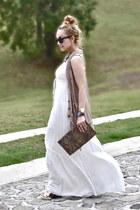 Forever 21 shoes - Zara dress - vintage cape