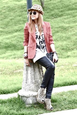 Zara blazer - pull&bear hat - Zara shirt