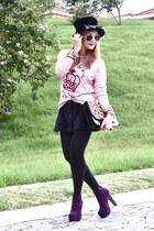 Forever 21 boots - Zara bag - Bershka sweatshirt