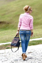 Stradivarius shirt - Forever 21 jeans - Stradivarius bag