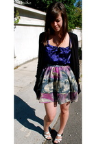 LAMB shoes - Urban Outfitters skirt - H&amp;M top - Splendid sweater
